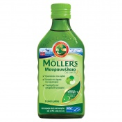 Moller's Μουρουνέλαιο (Cod Liver Oil) Apple Flavour 250ml