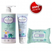 Pharmasept Promo Pack Baby Mild Bath 1Lt + Baby Extra Calm Cream 150ml + ΔΩΡΟ Soft Wipes 30τμχ