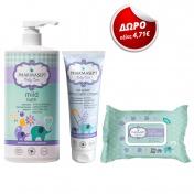 Pharmasept Promo Pack Baby Mild Bath 1Lt + Baby Extra Calm Cream 150ml + ΔΩΡΟ Soft Wipes 30τμχ
