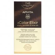 Apivita My Color Elixir Μόνιμη βαφή Μαλλιών N7.43 Ξανθό Χάλκινο Μελί