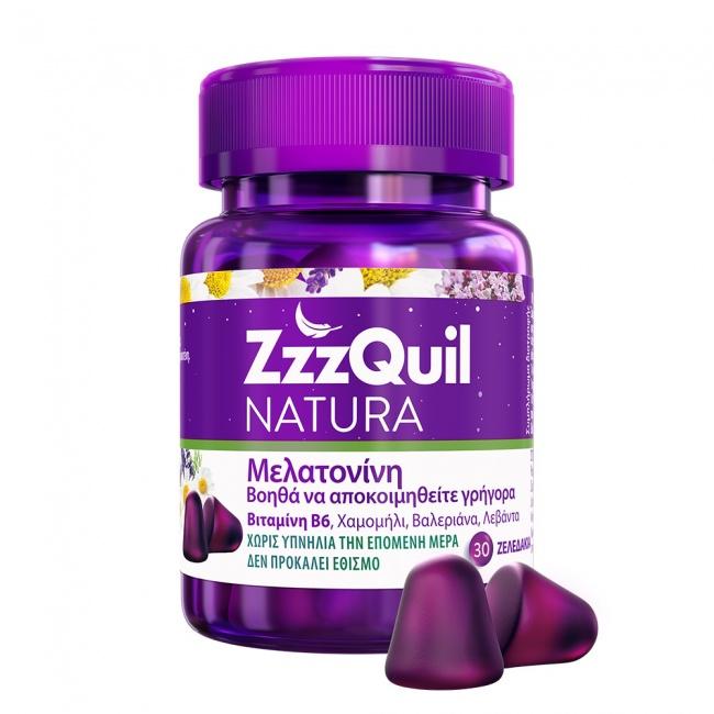 ZzzQuil Natura Με Μελατονίνη 30jellies