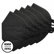 Μάσκα KN95 Υψηλής Προστασίας FFP2 Μαύρη 5τμχ