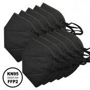 Μάσκα KN95 Υψηλής Προστασίας FFP2 Μαύρη 10τμχ