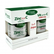 Power Health Platinum Range Zinc Plus C 30tabs & ΔΩΡΟ Vit.C 1000mg 20tabs - Promo Pack 1+1