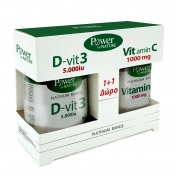 Power Health Platinum Range D-Vit3 5000iu 30tabs & ΔΩΡΟ Vit.C 1000mg 20tabs - Promo Pack 1+1