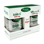 Power Health Platinum Range Ester-C 500mg 30tabs & ΔΩΡΟ Vit.C 1000mg 20tabs - Promo Pack 1+1
