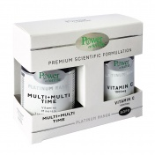 Power Health Platinum Range Multi+Multi Time Release 30tabs & ΔΩΡΟ Vit.C 1000mg 20tabs - Promo Pack 1+1