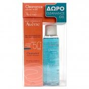 Avene Cleanance Solaire SPF50+ 50ml & ΔΩΡΟ Gel Nettoyant 100ml