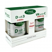Power Health Platinum Range D-Vit3 2000iu 30tabs & ΔΩΡΟ Vit.C 1000mg 20tabs - Promo Pack 1+1