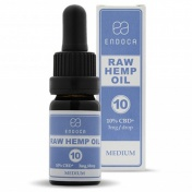 Endoca RAW Hemp Oil Drops 1000mg CBD + CBDa (10%) 10ml