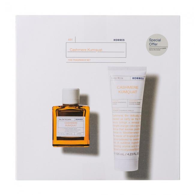 Korres Promo Pack Eau de Toilette Cashmere Kumquat Γυναικείο Άρωμα 50ml & Body Milk 125ml