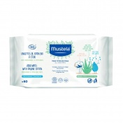 Mustela Organic Cotton Wipes with Water 60pcs