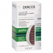 Vichy Dercos Shampoo Antipelliculaire Gras 390ml & ΔΩΡΟ Eco-Friendly Βούρτσα Μαλλιών