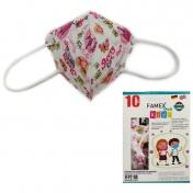 Famex Mask Παιδική Μάσκα Υψηλής Προστασίας FFP2 NR Pretty Princess 10τεμ.