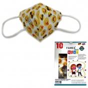 Famex Mask Παιδική Μάσκα Υψηλής Προστασίας FFP2 NR Emoticon 10τεμ.