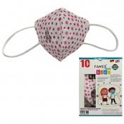 Famex Mask Παιδική Μάσκα Υψηλής Προστασίας FFP2 NR Pink Polka Dots 10τεμ.