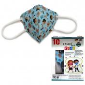 Famex Mask Παιδική Μάσκα Υψηλής Προστασίας FFP2 NR Pirates 10τεμ.