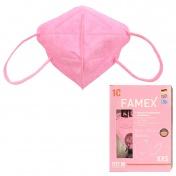 Famex Mask Παιδική Μάσκα Υψηλής Προστασίας FFP2 NR Pink 10τεμ.