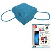 Famex Mask Παιδική Μάσκα Υψηλής Προστασίας FFP2 NR Sky Blue 10τεμ.
