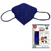 Famex Mask Παιδική Μάσκα Υψηλής Προστασίας FFP2 NR Navy Blue 10τεμ.