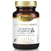 Power Health Liposomal Range Vitamin C 300mg & Vitamin D3 1000iu 30caps