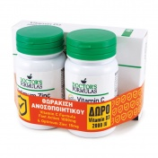 Doctor's Formulas Promo Pack Vitamin C Fast Action 1000mg 30tabs & Optimum Zinc 30caps με ΔΩΡΟ Vitamin D3 2000IU 60caps